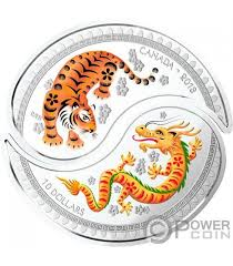 yin yang tiger set 2 silver coins 10 canada 2018 power coin