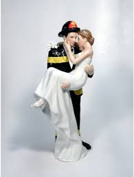 fireman wedding cake toppers wedding cake toppers firefighter pics firefighters personalized