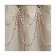 Shower Curtain Beads by Pearl Resin Double Swag Shower Curtain Beaded Accessory
