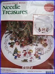 treasures counted cross tree skirt kit sing along
