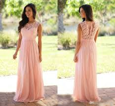 custom made vintage wedding guest bridesmaid dresses pink lace