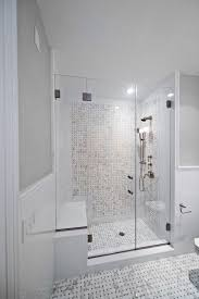 bendheim glass for a midcentury bathroom with a frosted glass and