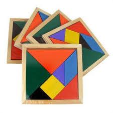 tangram puzzle discount wooden tangram puzzle colorful square iq brain