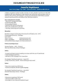 resume template for students preschool resume template