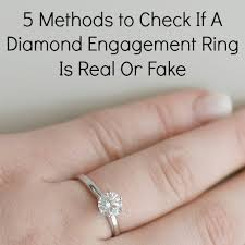 real diamond engagement rings 5 methods to check if a diamond engagement ring is real or