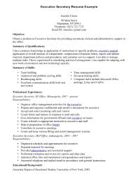 Mission Statement Examples For Resume Sample Resume Of Secretary Resume For Your Job Application