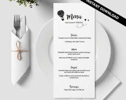 menu download etsy