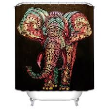 new nova elephant shower curtain