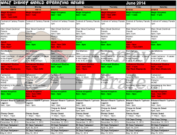 disney world crowd calendar park hours june 2014 kennythepirate 2