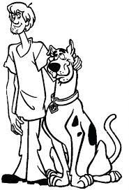 free printable scooby doo coloring sheets draw pages