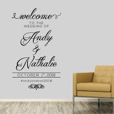 welcome wedding custom names 0231 first name wall decor welcome wedding custom names 0231 first name wall decor wall decals