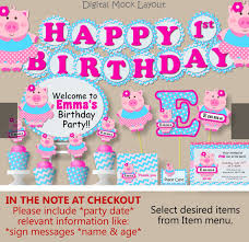 birthday party supplies baby girl pig birthday party supplies baby shower