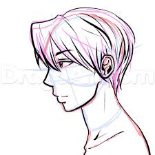 15 side view male anime face drawing tutorial