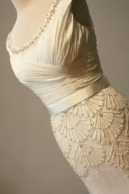 buy a hand made art deco wedding dress beaded vintage style made