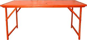 Heavy Duty Folding Table Orange Vintage Wood W Heavy Duty Steel Frame Folding Table
