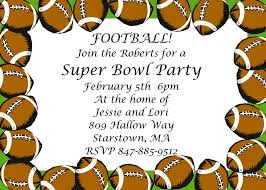 super bowl party invitations 2018 football