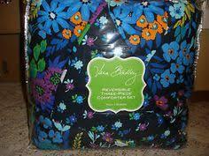 Vera Bradley Twin Comforter Vera Bradley Reversible Comforter Set Full Queen With Shams