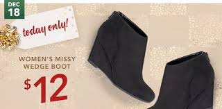s boots payless s wedge boots 12 today only at payless