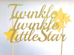 twinkle twinkle little star cake topper baby shower cake topper