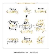 seasons greetings gold text black splashes stock vector 537998329