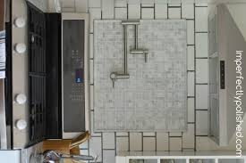 marble subway tile kitchen backsplash re grouting tile white subway and marble tile backsplash
