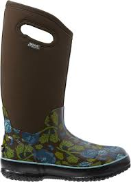 garden boots print insulated waterproof boots by bogs