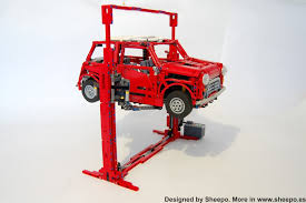 custom lego mini cooper sheepo u0027s garage car lift