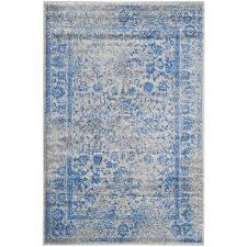Blue Area Rugs 8 X 10 Shop Safavieh Adirondack Kashan Gray Blue Indoor Lodge Area Rug