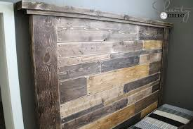 How To Make Your Own Headboard And Footboard Diy Planked Headboard Shanty 2 Chic