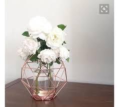 geometric home decor home accessory flowers rose rose gold cute home decor design