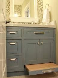 Vanity Storage Stool Remarkable Bathroom Vanity With Step Stool And One Step Storage