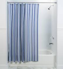 mason stripe print fabric shower curtain window toppers