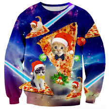 amazon com raisevern cute funny christmas pizza cat hoodie