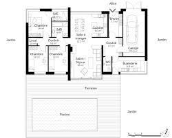 plan de maison plain pied 5 chambres idees d chambre plan maison plain pied 5 chambres dernier