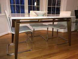 stone top dining table sleek dining table w faux stone marble top