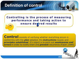 controlling definition surveillance and control in organization