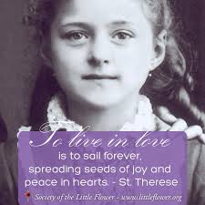 Prayer To St Therese The Little Flower - st therese quotes society of the little flower