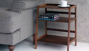 desk with shelves on side scp agnes side table heal s