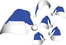 blue santa hat the vector blue santa hat set stock vector colourbox