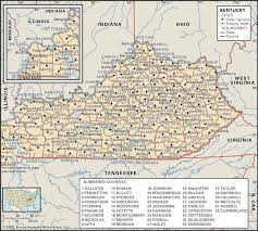 kentucky map state and county maps of kentucky