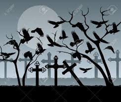 halloween graveyard background halloween spooky graveyard cemetery vintage background with
