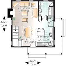 cottage style house plan 2 beds 2 baths 1200 sq ft plan 23 661
