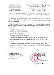 invitation letter for vietnam vietnam approval letter