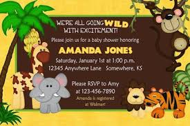 theme invitations baby shower invitations jungle theme dancemomsinfo