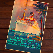woermann linie hamburg america line travel agency font b ad b font font b vintage b jpg