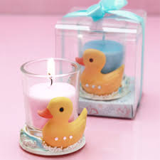candle baby shower favors ducky candle holder favor baby shower candles baby shower