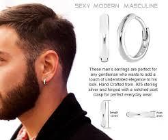 mens hoop earrings mens hoop earrings sterling 925 silver 13mm