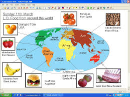 mr howe s class topic food from around the world