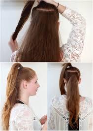 Frisuren Lange Haare Zopf by Frisuren Trick Pferdeschwanz Mit Clip In Haarverlängerung Voller