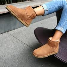 ugg sale mini ugg mini ankle boots chestnut the look